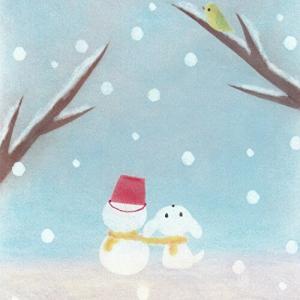 雪の中で笑いがこみ上げてくる♪