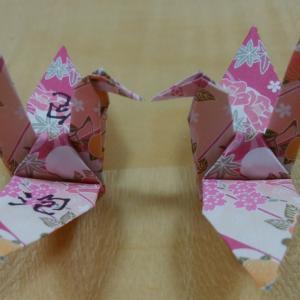 一羽の鶴に書かれた漢字は「泡」
