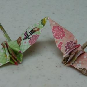 一羽の鶴に書かれた漢字は「香」