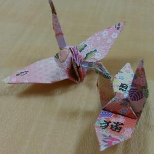 一羽の鶴に書かれた漢字は「猫」