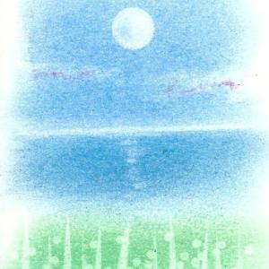 空に浮かぶ月の光