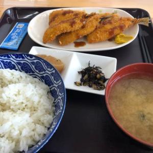 アジフライ@もつ煮ショップ(群馬県伊勢崎市)(o^^o)