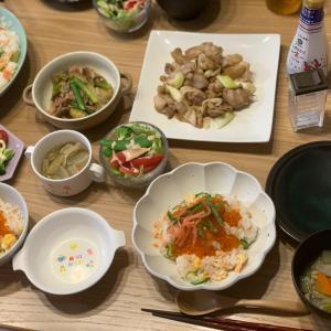 鮭と胡瓜と卵の混ぜ寿司