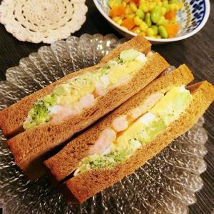 サンドイッチと銀チョコ