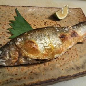 鮎の塩焼き&谷川俊太郎