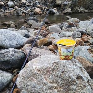 渓流釣り最終日