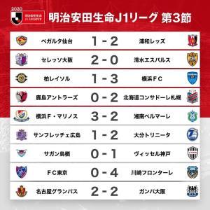 7/8のプロ野球の件は軽く流して、横浜F・M3-2湘南(ニッパツ三ツ沢)などJ1第3節の件