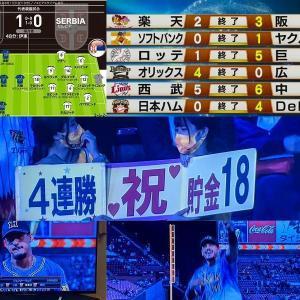 〓杜の都でラパンパラ(交流戦4連勝)とらほ~\(^o^)/【3-2 vs 鷲】など、6/11のプロ野球関連+α