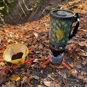 幻の滝でコーヒー