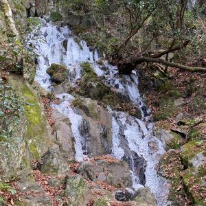 大文字山の氷瀑