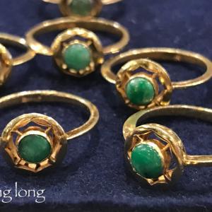 アンティーク翡翠の指輪