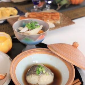 10月自宅レッスンは秋の和食~穴子、鯖、鮭、鱸を使って。