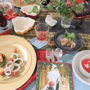 クリスマス気分でお待ちかね♪自宅料理教室より。