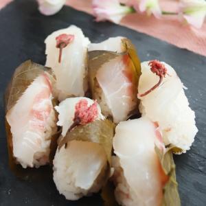 <レシピ公開>自宅でお花見🌸桜薫る鯛の握り寿司