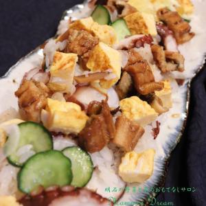 ザックリでいいんです。「明石のタコ&アナゴでちらし寿司」