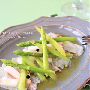 【魚菜レシピ】アスパラガス、長芋、鯛のマリネ