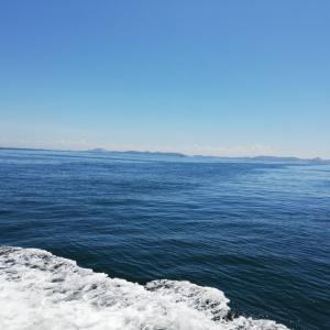 赤穂の海にて、暑い1日。