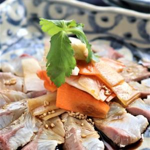 【魚菜レシピ】ぶりの旨辛ソースかけ