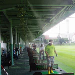 ミストシャワーをステンレス配管でゴルフ練習場に設置