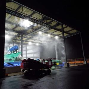 ミストシャワー 防塵対策 廃棄物リサイクル工場 熱中症対策