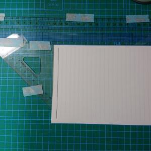 紙を半分に折るとき
