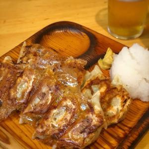 2人前はいけちゃう!大根おろしで食べるパリパリ羽つき餃子@ラーメン コント 本店 (浅草)