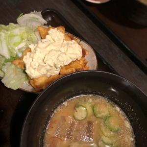 夏のごちそう冷汁は限定7食!冷や汁&チキン南蛮@串ドラゴン (蔵前)