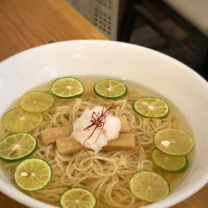 これは蕎麦なのか、冷麺なのか、中華そばなのか… 冷製すだちそば@支那そば大和 (稲荷町)
