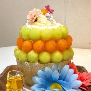 季節のフルーツを丸ごと使ったかき氷パフェ「氷パフェ」発祥のお店@浅草よろず茶屋444 (浅草)