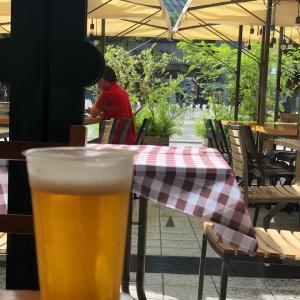 池袋西口公園にヨーロッパがあった?!ヨーロッパを感じながらのビール@グローバル リング カフェ (池袋)