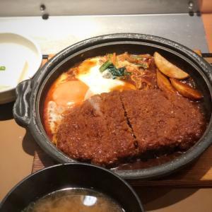 名古屋の味?!甘め八丁味噌でとじる味噌かつ煮@やよい軒 (蔵前)