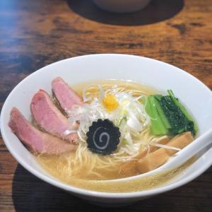 鴨と煮干しのスープが柚子胡椒と山椒オリーブオイルで激変する鴨塩らーめん@麺屋 上々 (蔵前)