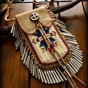 "Beaded ""Lakota Star"" Smartphone Pouch... done!! (i-phone 8 Plus ver.)"