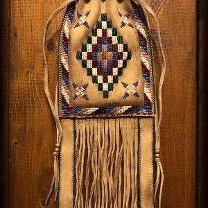 Apache Style Beaded Pouch... done!!