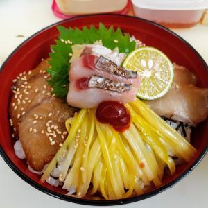 サワラと黄にらの岡山丼❗好評です