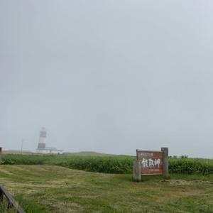 夏の北海道㉝ 霧に覆われた 能取岬