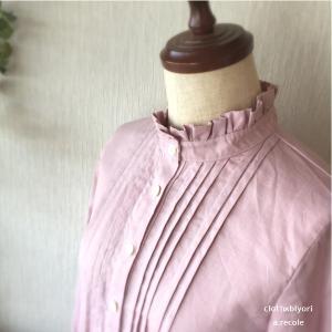 「コーディネートを考えるのが楽しみ♪」フリル襟のピンタックシャツ お客様のお声