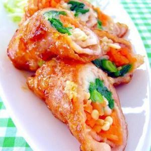 お野菜もお肉もしっかり摂取!「豚バラ×にんじん」の肉巻きレシピ5選