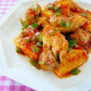 鶏肉と豆腐のチリソース炒め♪今日のイチオシレシピ掲載