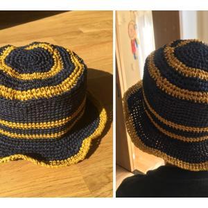 今年も作った新しい帽子