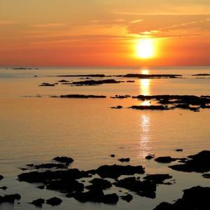 天草西海岸の夕陽