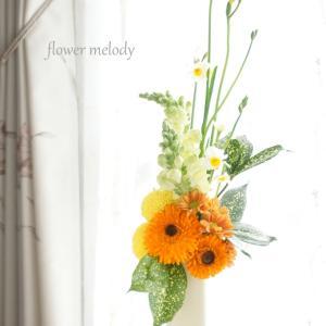 アレンジレッスン 『枝で支えるアレンジ』 『ハーフリース』  onedayプチレッスン『縦ラインのアレンジ』