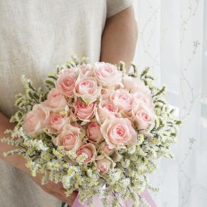 アレンジレッスン 『2種のお花のブーケ』