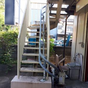 実家の階段 昇降機撤去