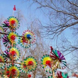 中国の民間玩具、風車(かざぐるま)