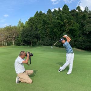 ゴルフ雑誌EVEN撮影中