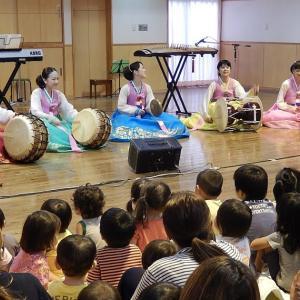 ペクさんと東京朝鮮歌舞団が来てくれました