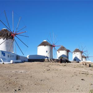 ミコノス島から世界遺産の島、デロス島へ~2018ヨーロッパの旅