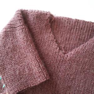 ドロップショルダーのセーター再開
