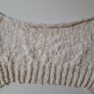 生成りのプル 編み始め